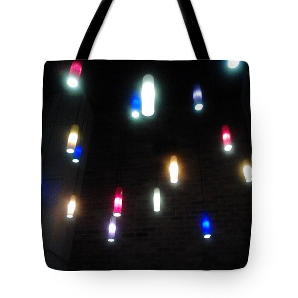 Multi Colored Lights Tote Bag