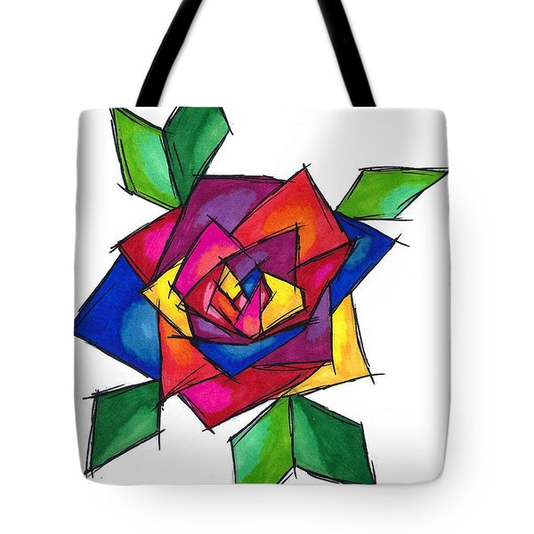 Multi Rose Tote Bag