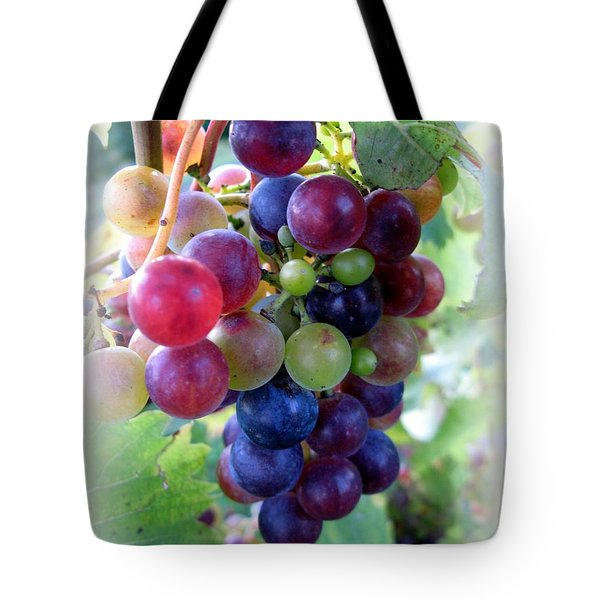 Multicolor Grapes Tote Bag