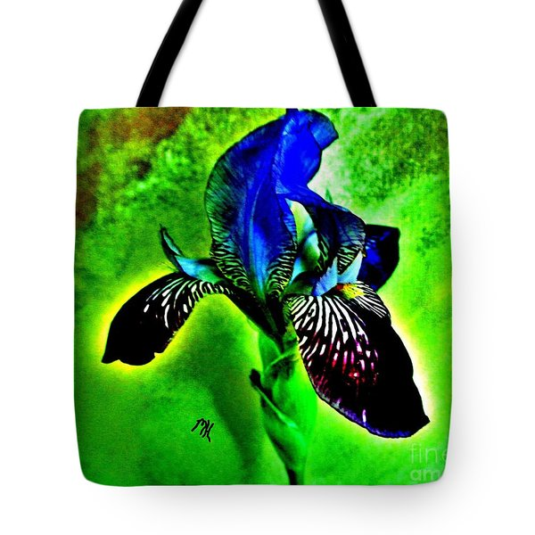 Tote Bag featuring the photograph Multicolor Iris by Marsha Heiken
