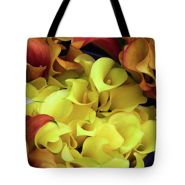 Multicolored Calla Lillies Tote Bag