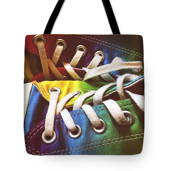 Multicolored Sneakers 10 Tote Bag
