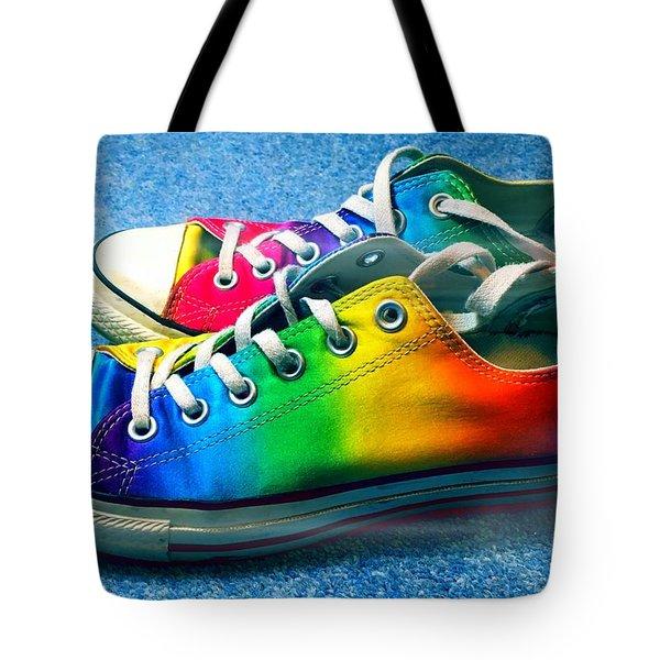 Multicolored Sneakers 2 Tote Bag