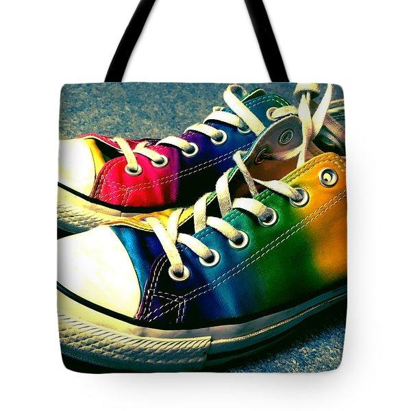 Multicolored Sneakers 5 Tote Bag