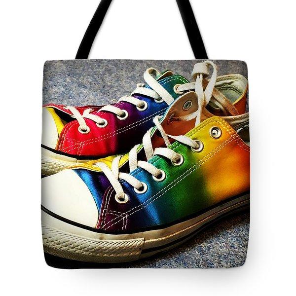 Multicolored Sneakers 8 Tote Bag