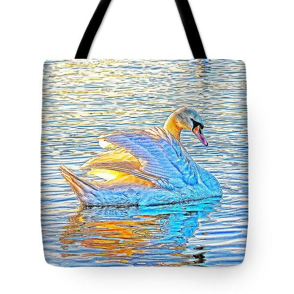 Multicolour Swan Tote Bag