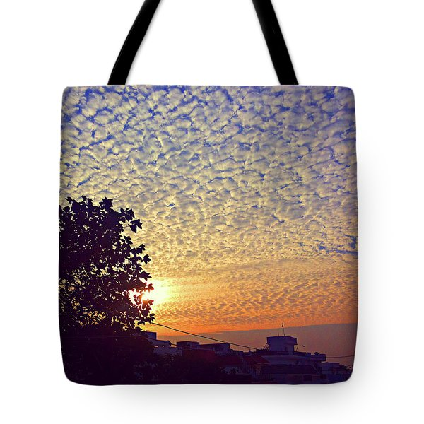 Multicoloured Sky Tote Bag