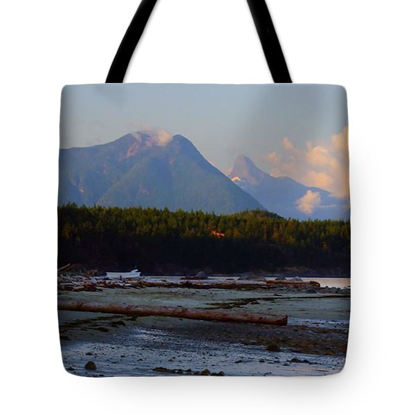 Multileval Photography In One Land Water Trees Mountain Clouds Skyview Olympic National Park America Tote Bag