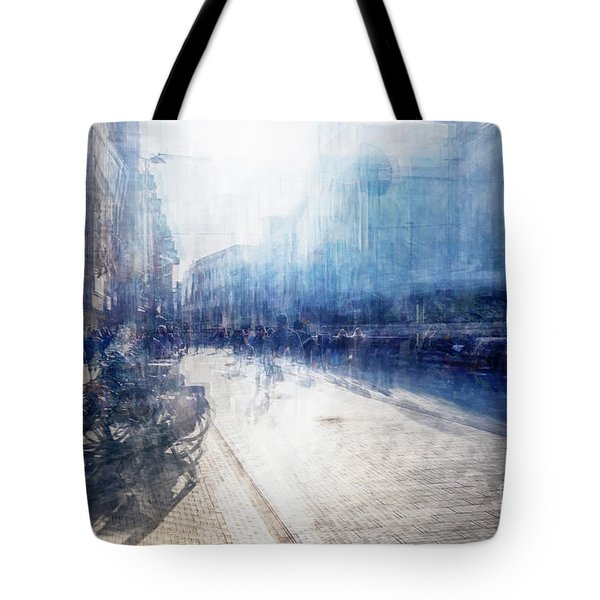 Tote Bag featuring the photograph Multiple Exposure Of Shopping Street by Ariadna De Raadt