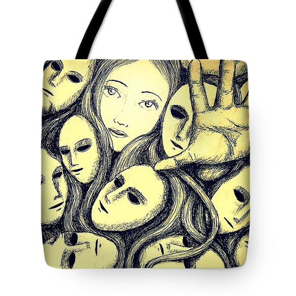 Multiple Personalities Tote Bag