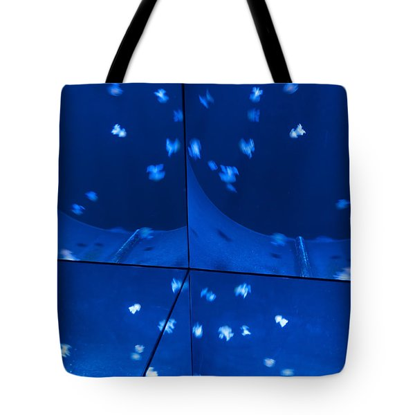 Tote Bag featuring the photograph Multiplication - Jellyfish by Menega Sabidussi