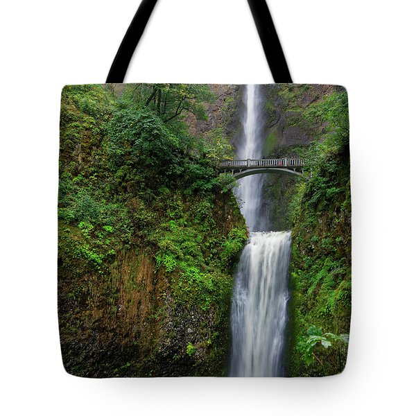 Tote Bag featuring the photograph Multnoma Falls by Jonathan Davison