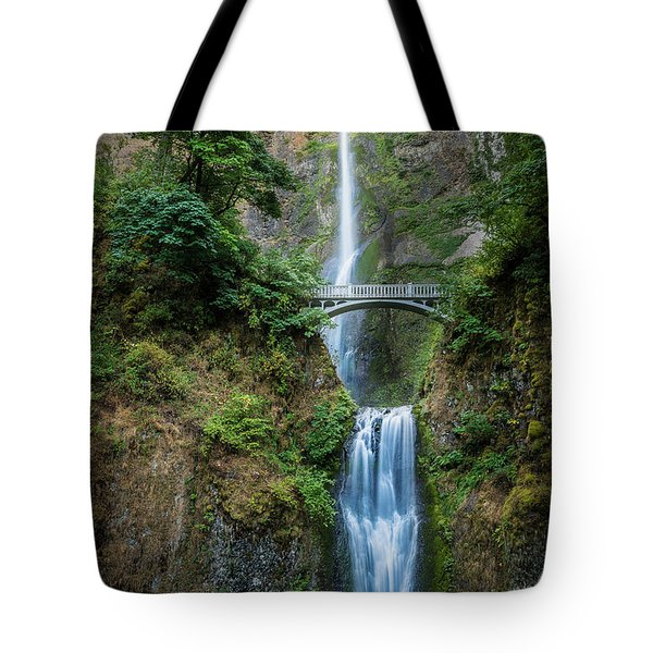 Multnomah Falls Tote Bag by Chris McKenna