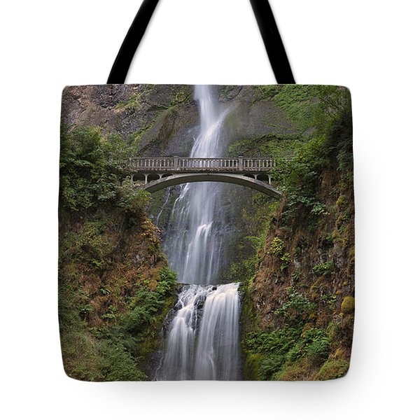 Multnomah Falls - Columbia River Gorge Tote Bag by Sandra Bronstein