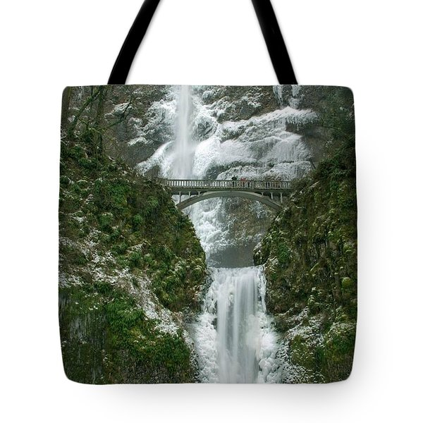 Multnomah Falls Ice Tote Bag