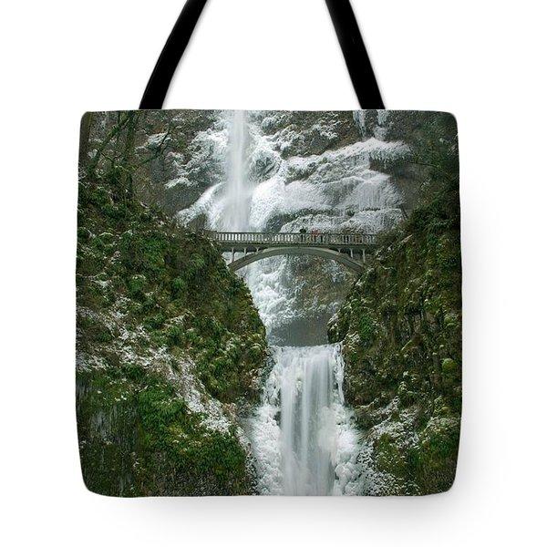 Multnomah Falls Ice Tote Bag