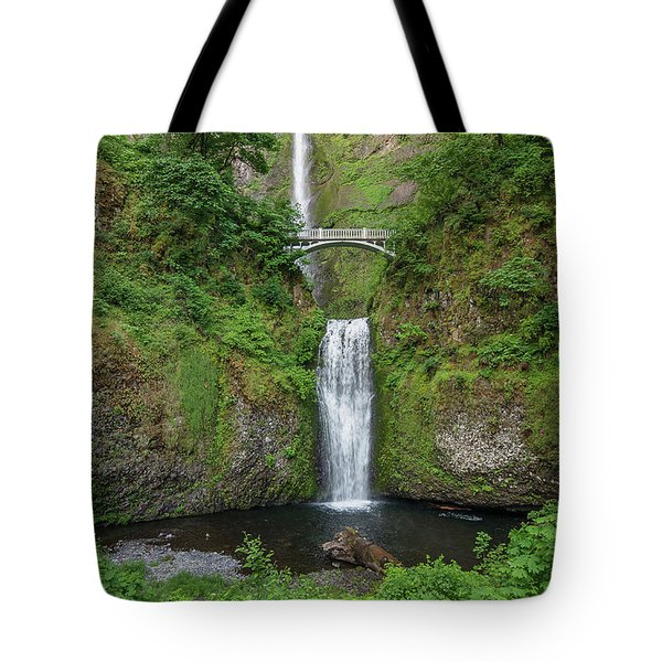 Tote Bag featuring the photograph Multnomah Falls In Spring by Greg Nyquist
