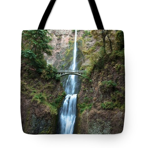 Tote Bag featuring the photograph Multnomah Falls by Photography by Laura Lee