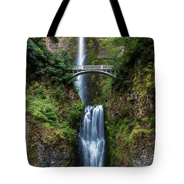 Tote Bag featuring the photograph Multnomah Falls by Pierre Leclerc Photography