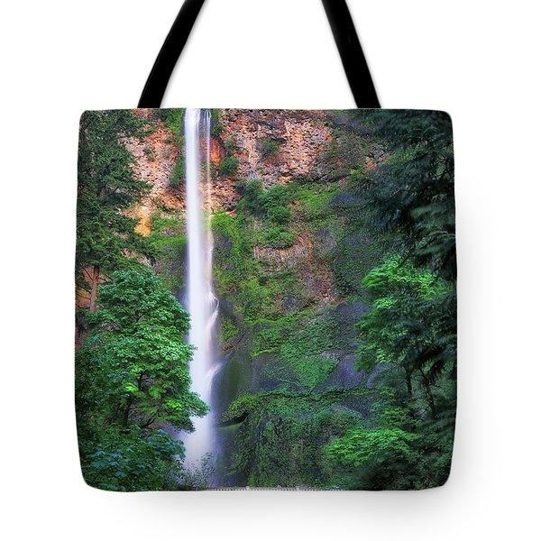 Multnomah Falls Portland Oregon Tote Bag