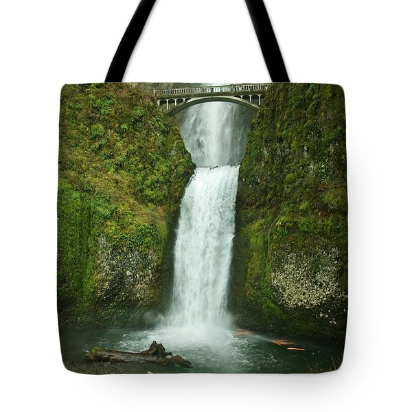 Multnomah Falls Tote Bag by Sheila Ping