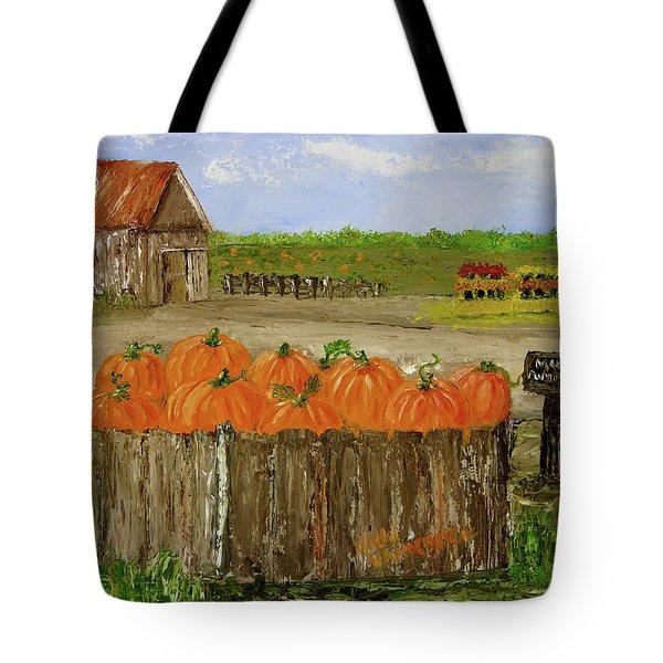 Mum And Pumpkin Harvest Tote Bag