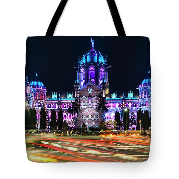 Tote Bag featuring the photograph Mumbai Moment by Dan McGeorge