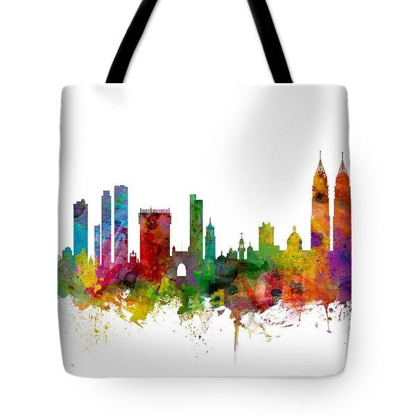 Mumbai Skyline India Bombay Tote Bag