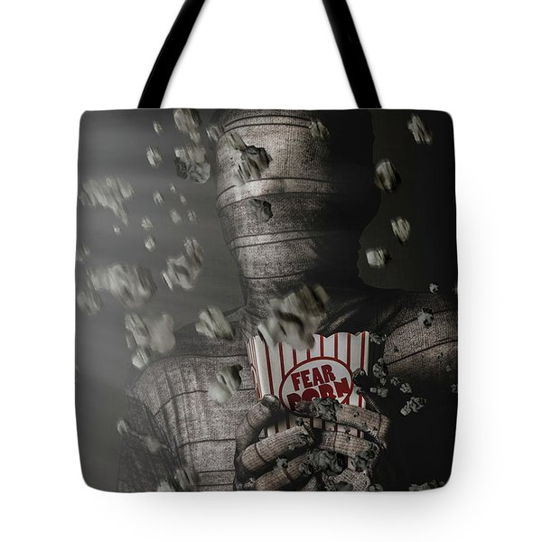 Mummy Wrapped Up In Fear Porn News Tote Bag