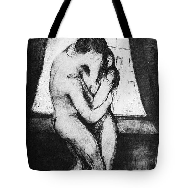 Munch The Kiss, 1895 - To License For Professional Use Visit Granger.com Tote Bag