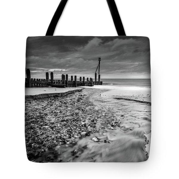 Mundesley Beach - Mono Tote Bag