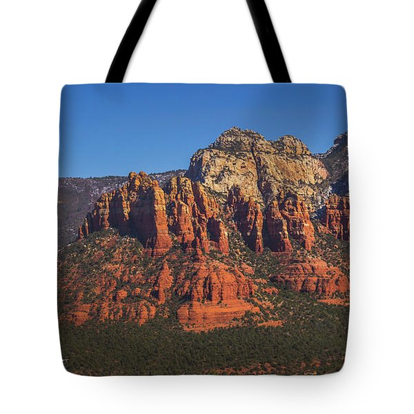 Tote Bag featuring the photograph Munds Mountain Panorama by Andy Konieczny