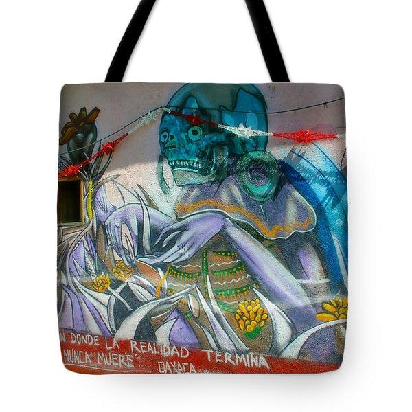 Mural @ Oaxaca Mexico Tote Bag