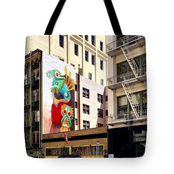 Mural Tote Bag by Julie Gebhardt
