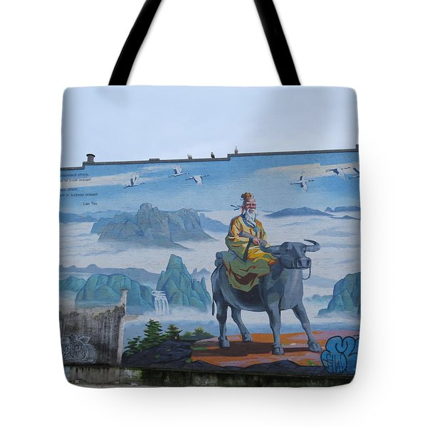 Mural In Chinatown Vancouver Tote Bag