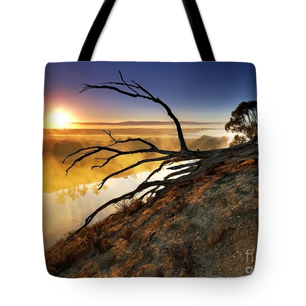 Murray River Sunrise Tote Bag by Bill  Robinson