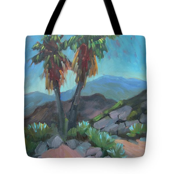 Tote Bag featuring the painting Murray Trail Andreas Canyon by Diane McClary