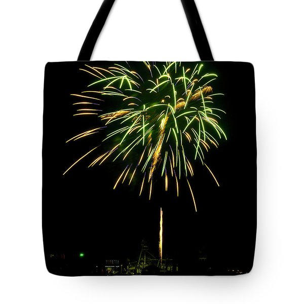 Tote Bag featuring the photograph Murrells Inlet Fireworks by Bill Barber