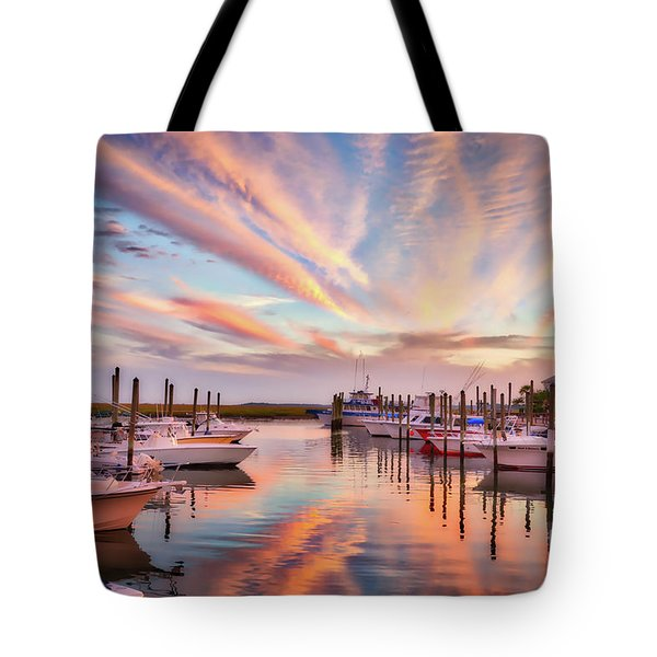 Tote Bag featuring the photograph Murrells Inlet Sunset 2 by Mel Steinhauer