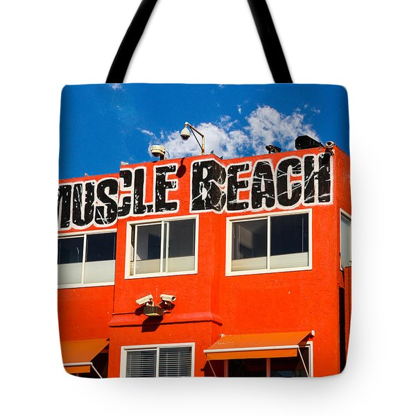 Tote Bag featuring the photograph Muscle Beach by Robert Hebert