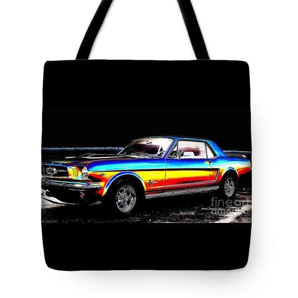 Muscle Car Mustang Tote Bag