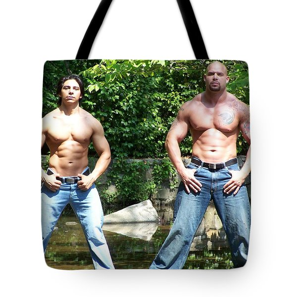 Muscle Duo Tote Bag by Jake Hartz
