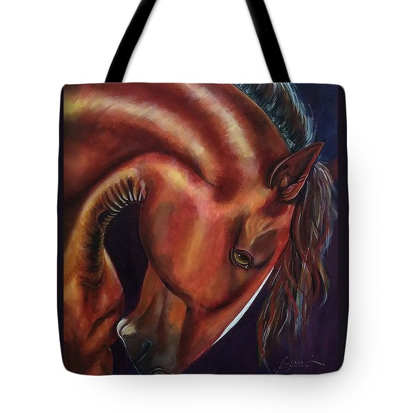 Tote Bag featuring the painting Muscle Man by Thomas Lupari