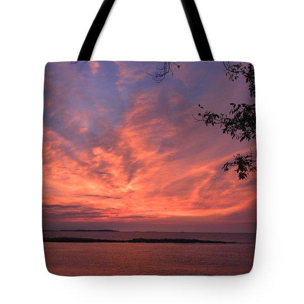 Muscongus Sound Sunrise Tote Bag