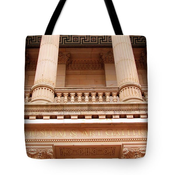 Tote Bag featuring the photograph Museum And Art Gallery Entrance by Baggieoldboy