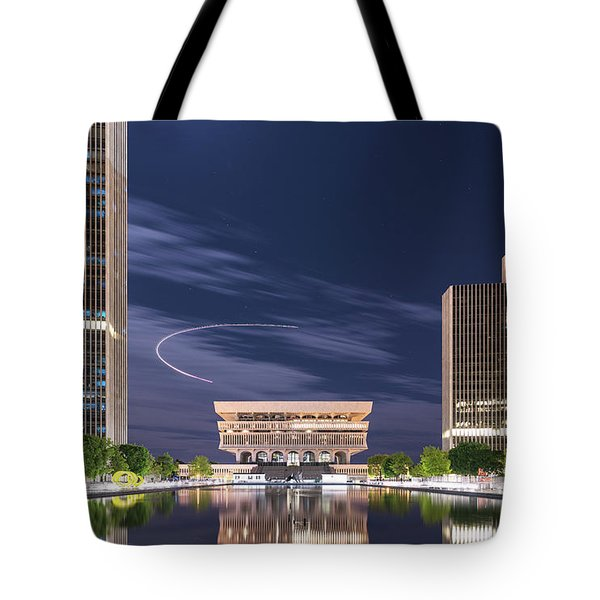 Tote Bag featuring the photograph Museum Flyby by Brad Wenskoski
