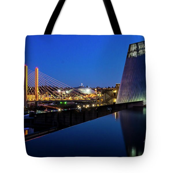 Museum Of Glass At Blue Hour Tote Bag