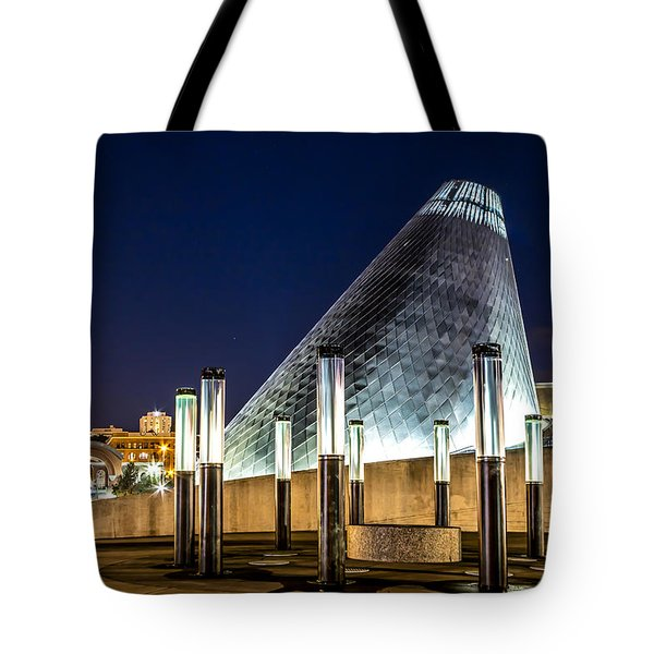 Museum Of Glass Water Forest At Twilight Tote Bag