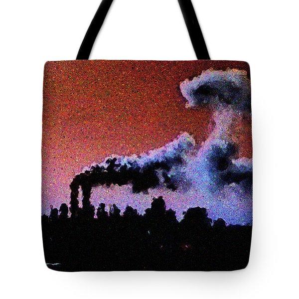 Mushroom Cloud From Flight 175 Tote Bag