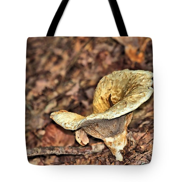 Tote Bag featuring the photograph Mushroom by Debbie Stahre
